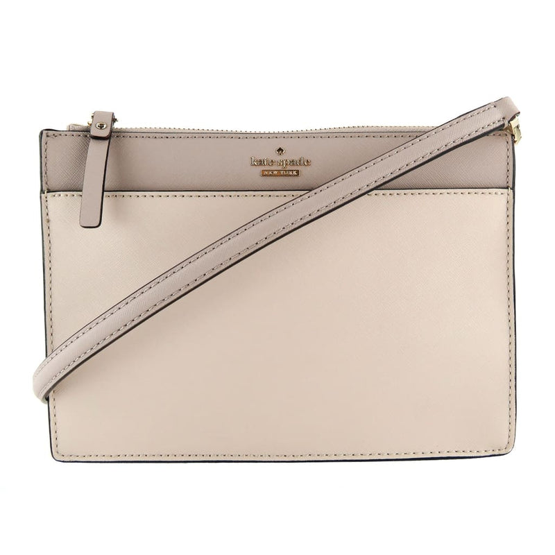 Kate Spade Beige and Pink Saffiano Leather Cameron Street Clarise Crossbody Bag - Crossbodies