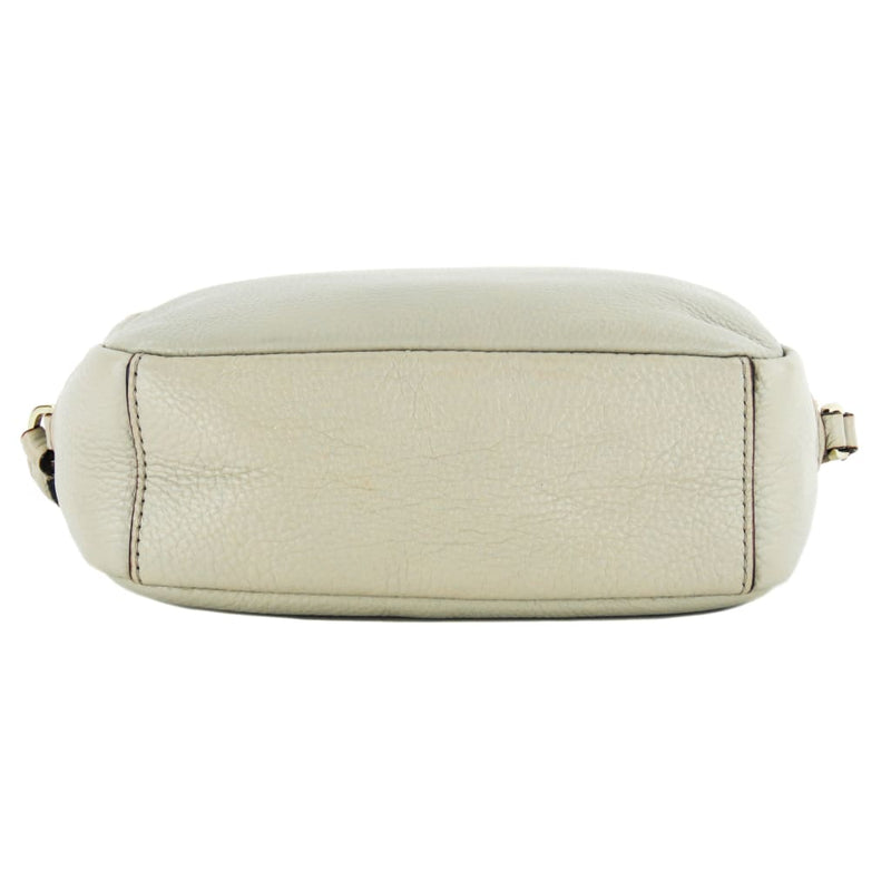 Kate Spade Beige Pebbled Leather Grey Street Mindy Crossbody Bag - Crossbodies