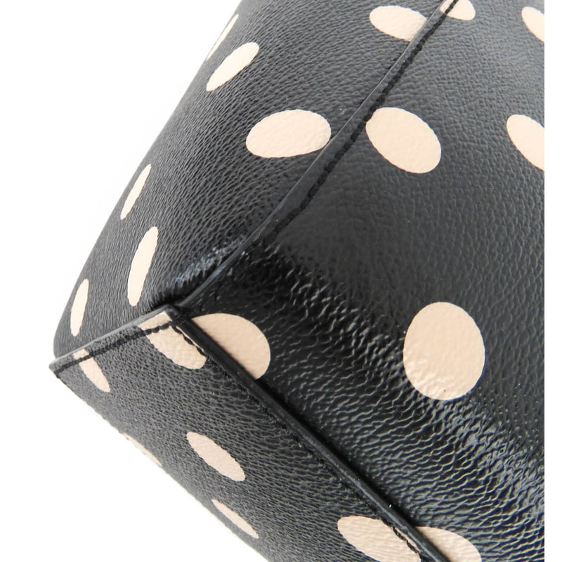 Kate Spade Black Coated Canvas Polka Dot Wellesby Camryn Crossbody Bag - Crossbodies