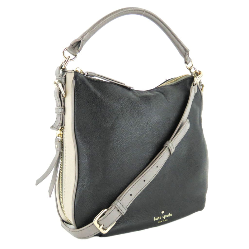 Kate Spade Black Leather Cobble Hill Ella Convertable Crossbody Bag - Crossbodies