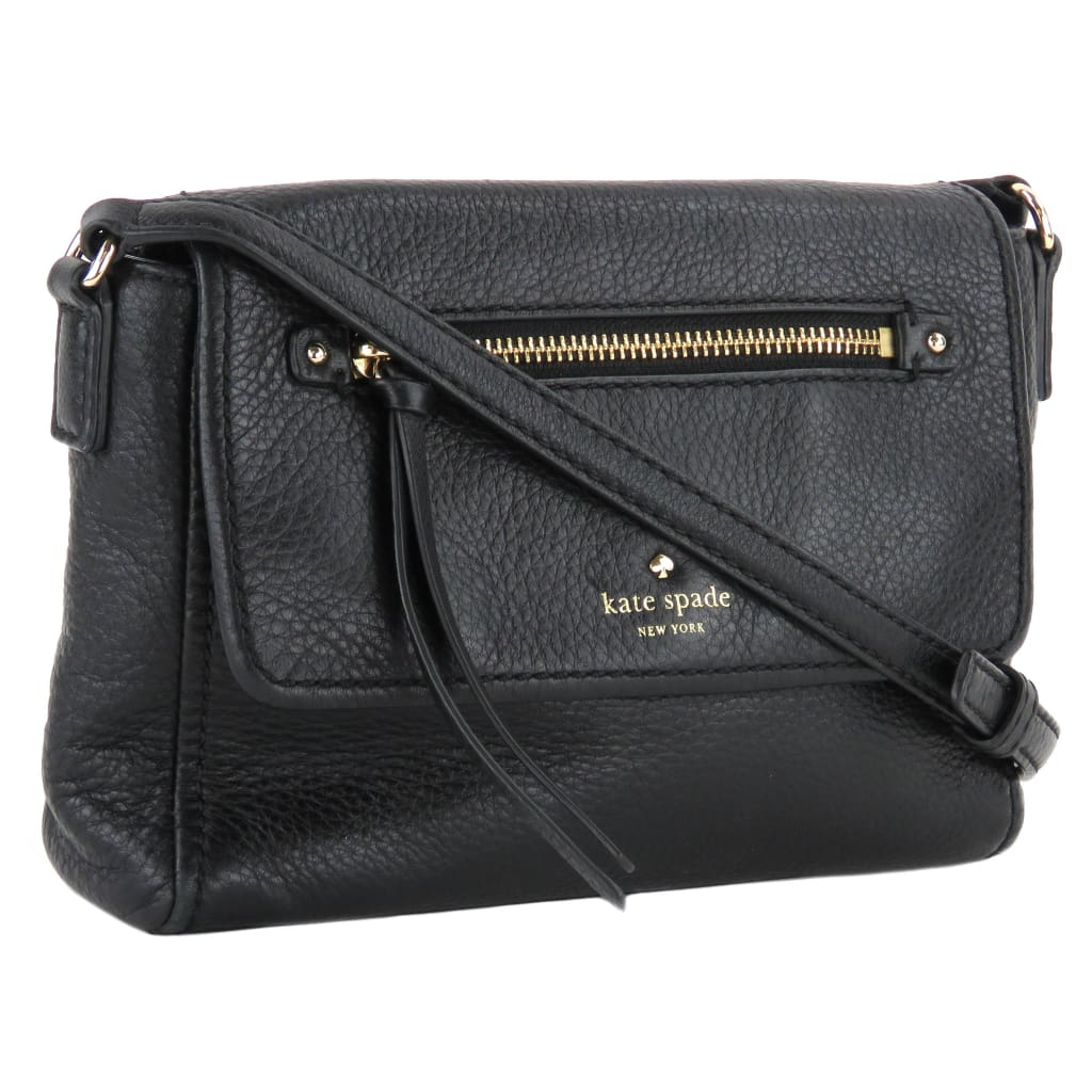 Kate Spade Black Leather Cobble Hill Mini Toddy Crossbody Bag - Crossbodies