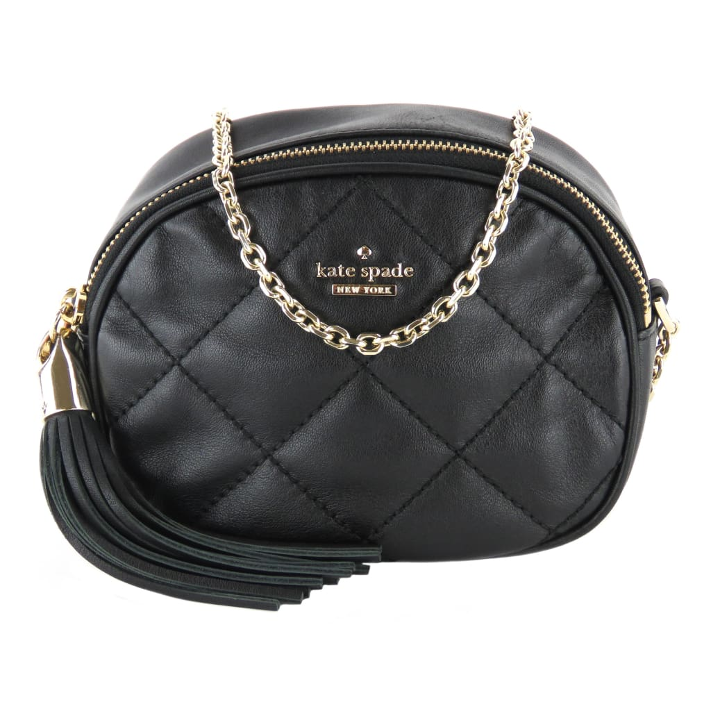 Kate Spade Black Leather Emerson Place Tinley Crossbody Bag - Crossbodies