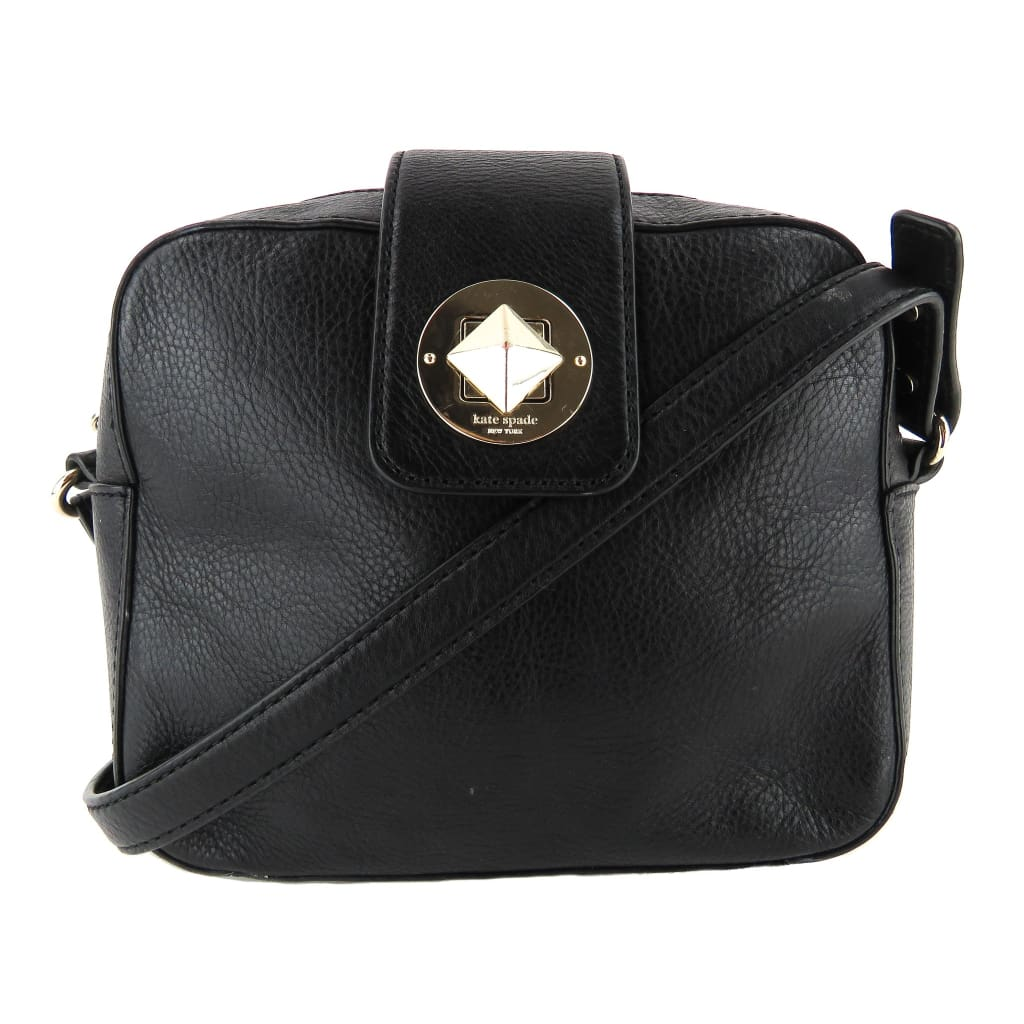 Kate Spade Black Leather Isla Chrystie Street Crossbody Bag - Crossbodies
