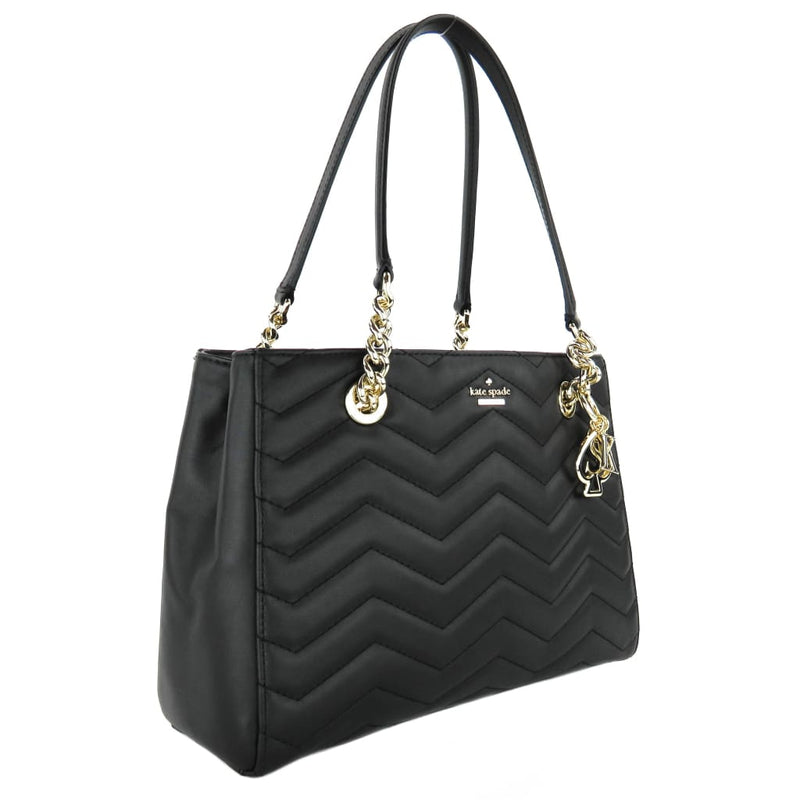Kate Spade Black Leather Reese Park Courtnee Shoulder Bag - Shoulder Bags