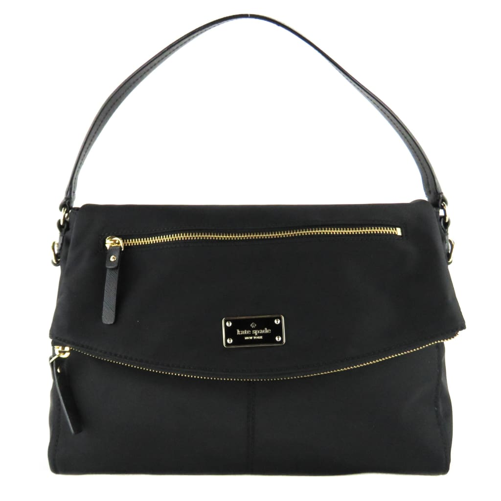 Kate Spade Black Nylon Blake Avenue Lyndon Shoulder Bag - handbags