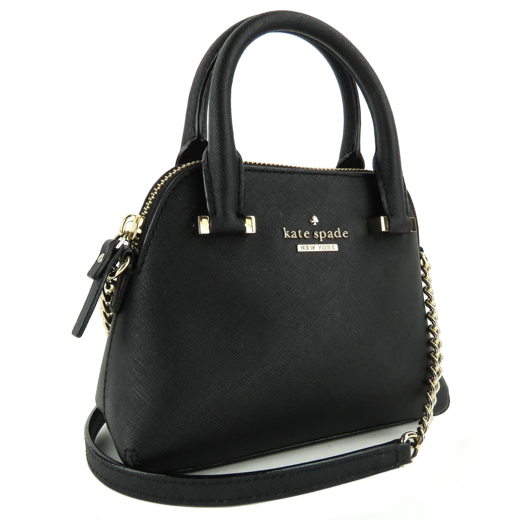 Kate Spade Black Saffiano Leather Cedar Street Mini Maise Crossbody Bag - Crossbodies