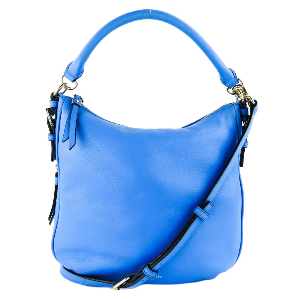 Kate Spade Blue Leather Cobble Hill Ella Convertible Crossbody Bag - Crossbodies