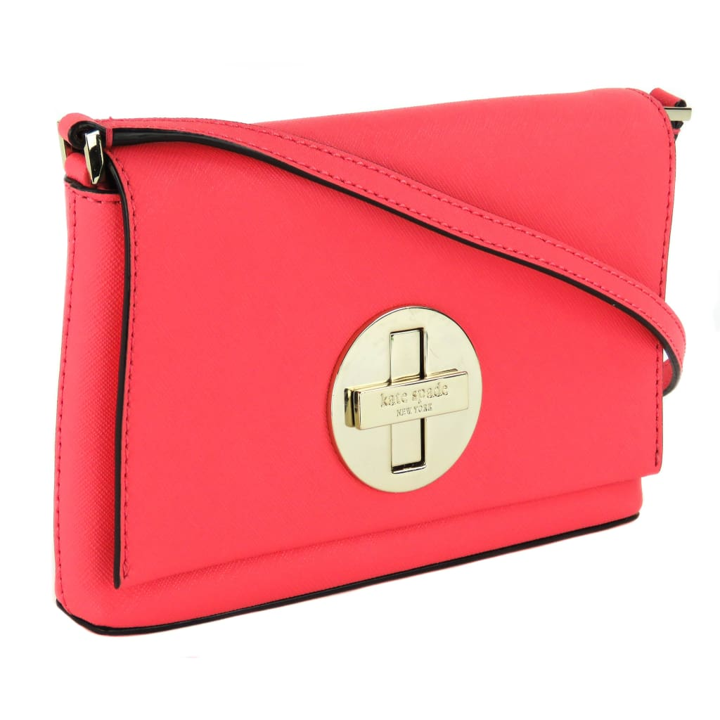 Kate Spade Coral Saffiano Leather Newbury Lane Sally Crossbody Bag - Crossbodies