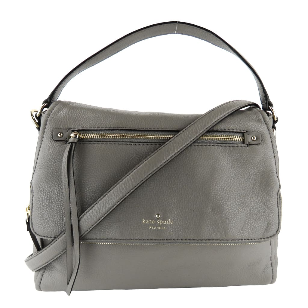 Kate Spade Grey Leather Cobble Hill Toddy Satchel Bag - Satchels