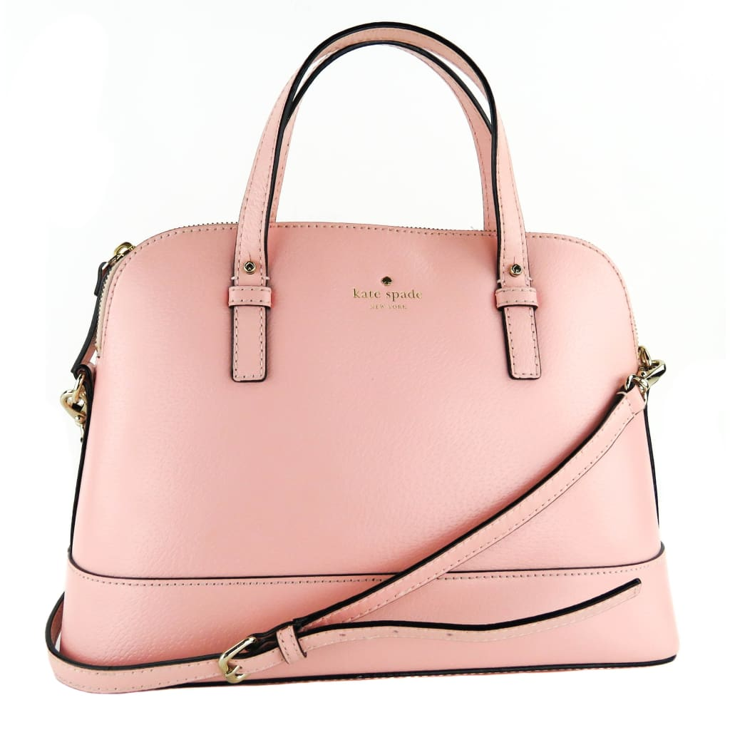 Kate Spade Light Pink Leather Grand Street Rachelle Satchel Bag - Satchels