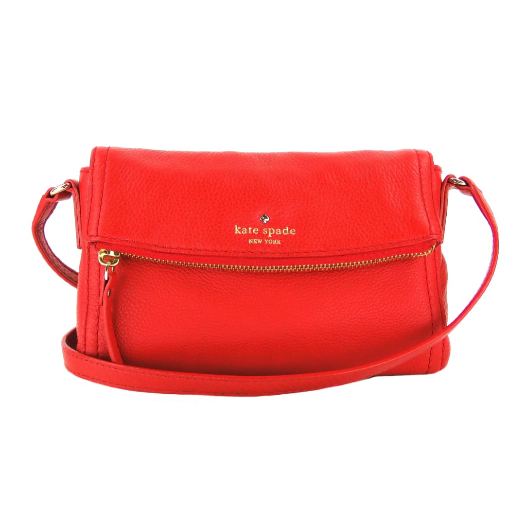 Kate Spade Red Leather Cobble Hill Mini Carson Crossbody Bag - Crossbodies