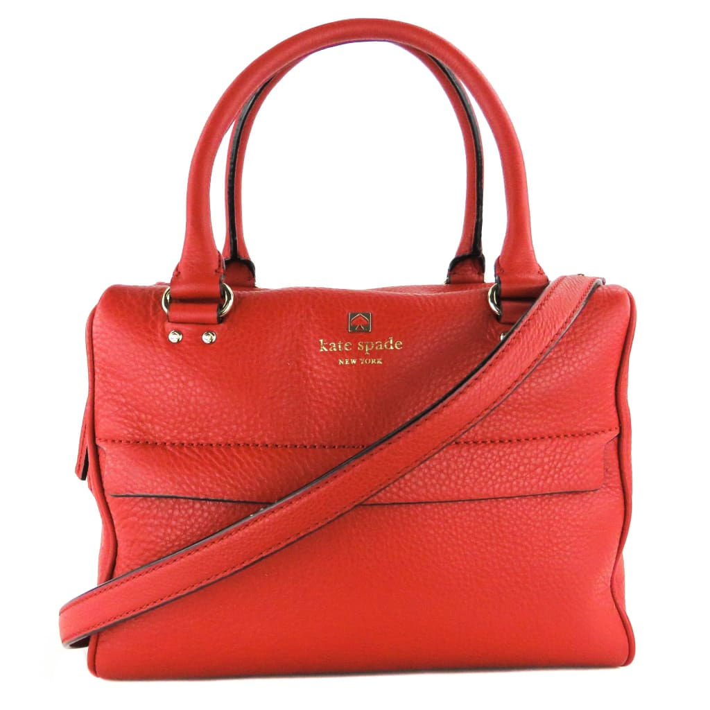 Kate Spade Red Leather Grant Park Hadlen 2 Way Satchel Bag - Satchels