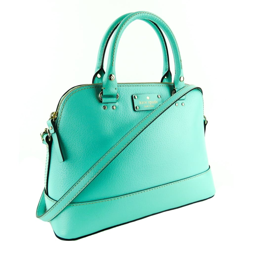 Kate Spade Robins Egg Blue Leather Wellesley Rachelle Satchel Bag - Satchels