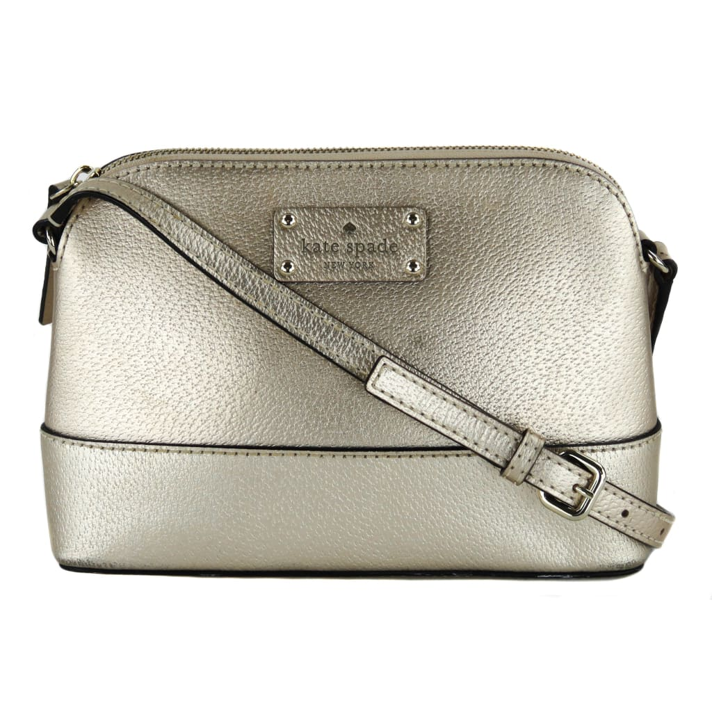 Kate Spade Rose Gold Metallic Leather Wellesley Hanna Crossbody Bag - Crossbodies