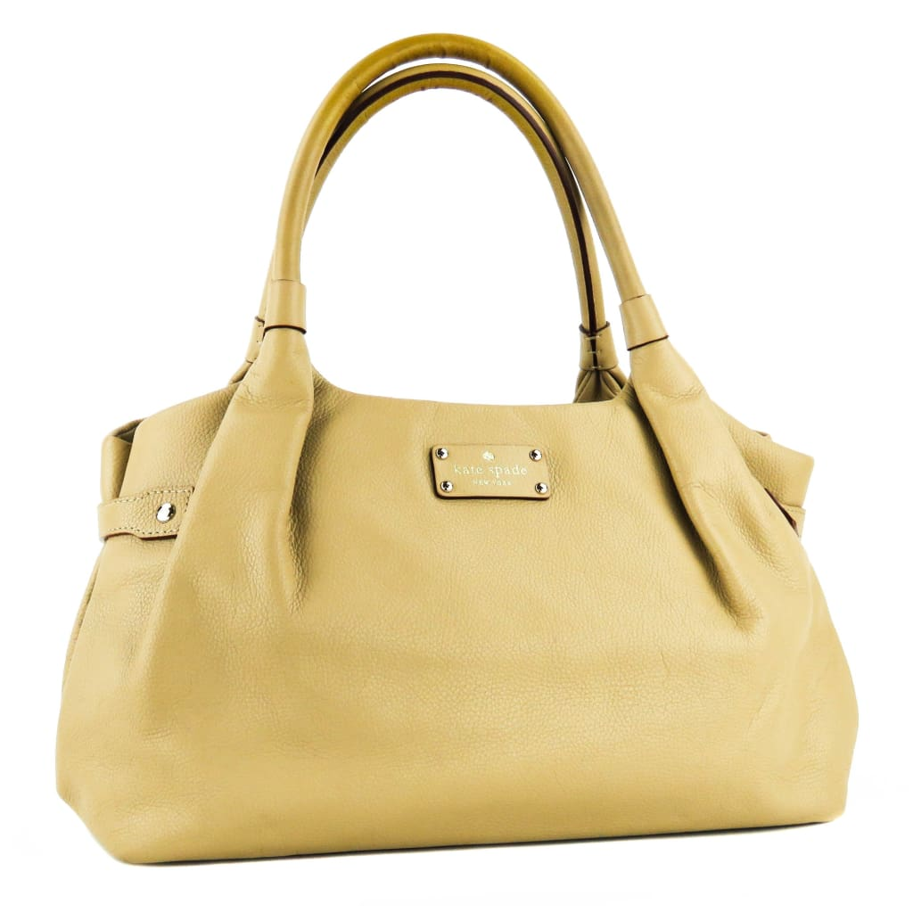 Kate Spade Tan Leather Berkshire Road Stevie Shoulder Bag - Shoulder Bags