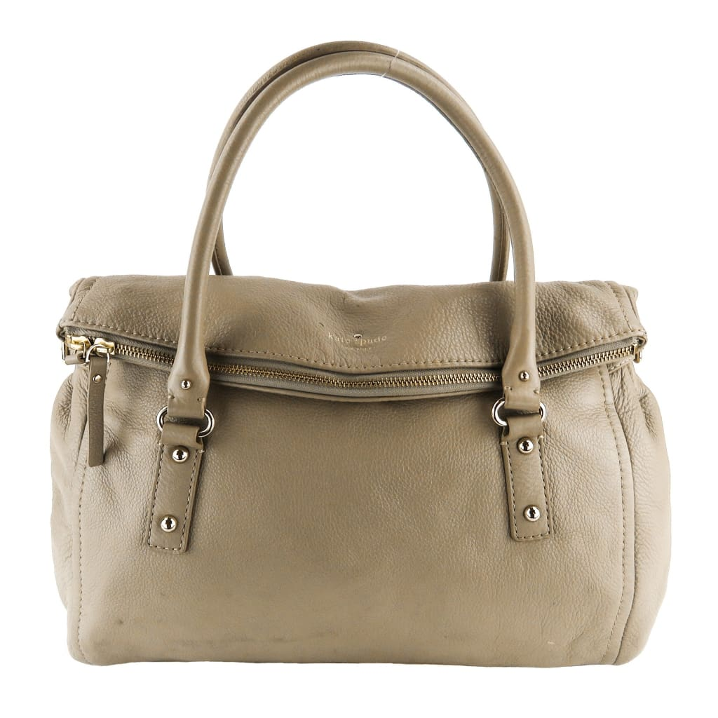 Kate Spade Taupe Leather Cobble Hill Leslie Shoulder Bag - Shoulder Bags