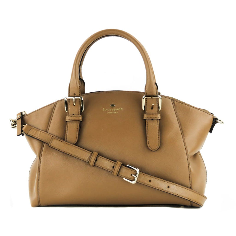 Kate Spade Taupe Saffiano Leather Charlotte Street Sloan Satchel Bag - Satchels