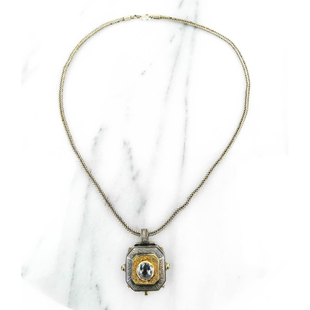 Konstantino Sterling Silver 18K Gold Vintage Classics Pendant Necklace - Necklace
