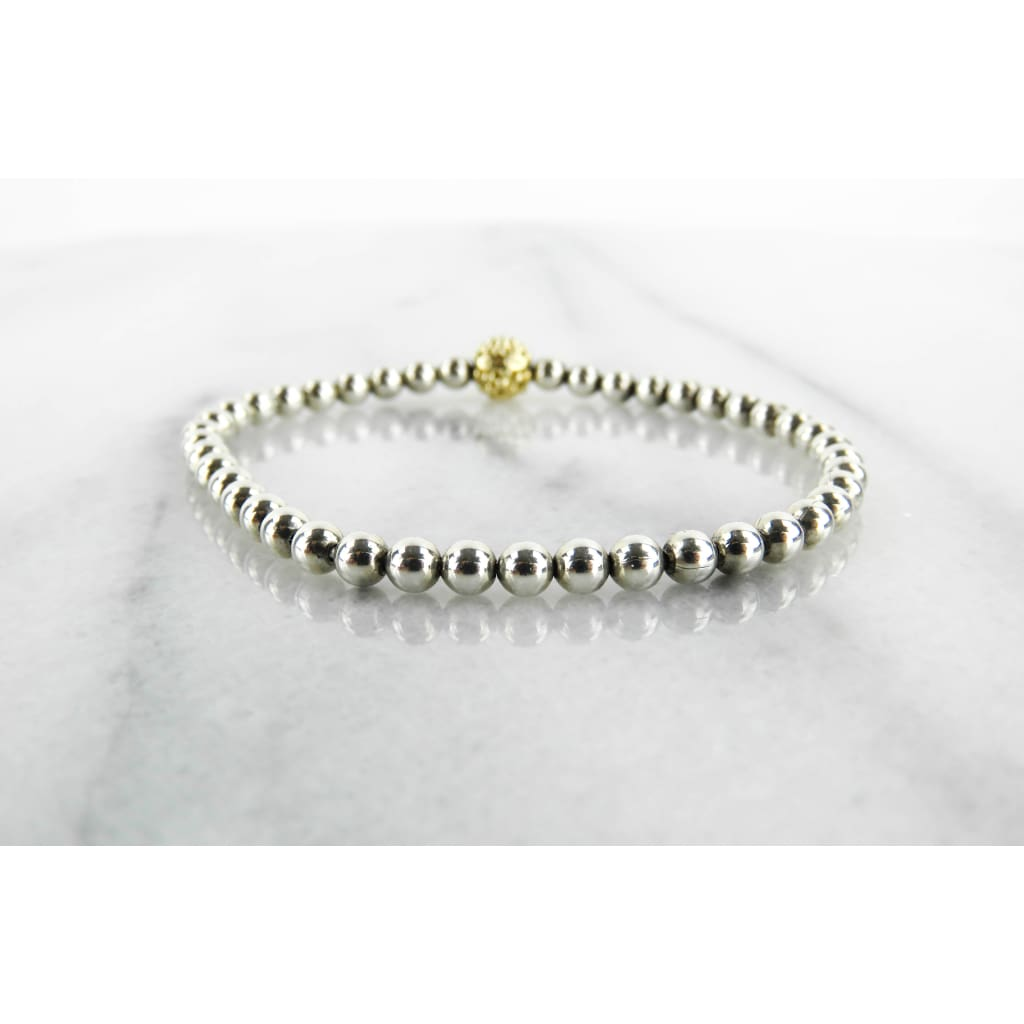 Lagos 18K Gold Sterling Silver Caviar Icon Beaded Bracelet - Bracelet