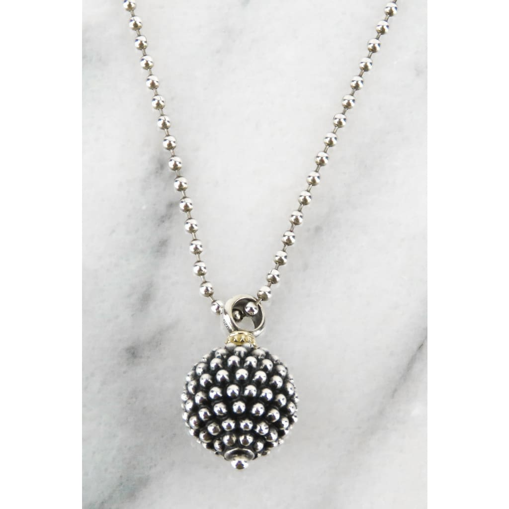Lagos Sterling Silver Caviar Forever Ball Pendant Necklace - Necklace