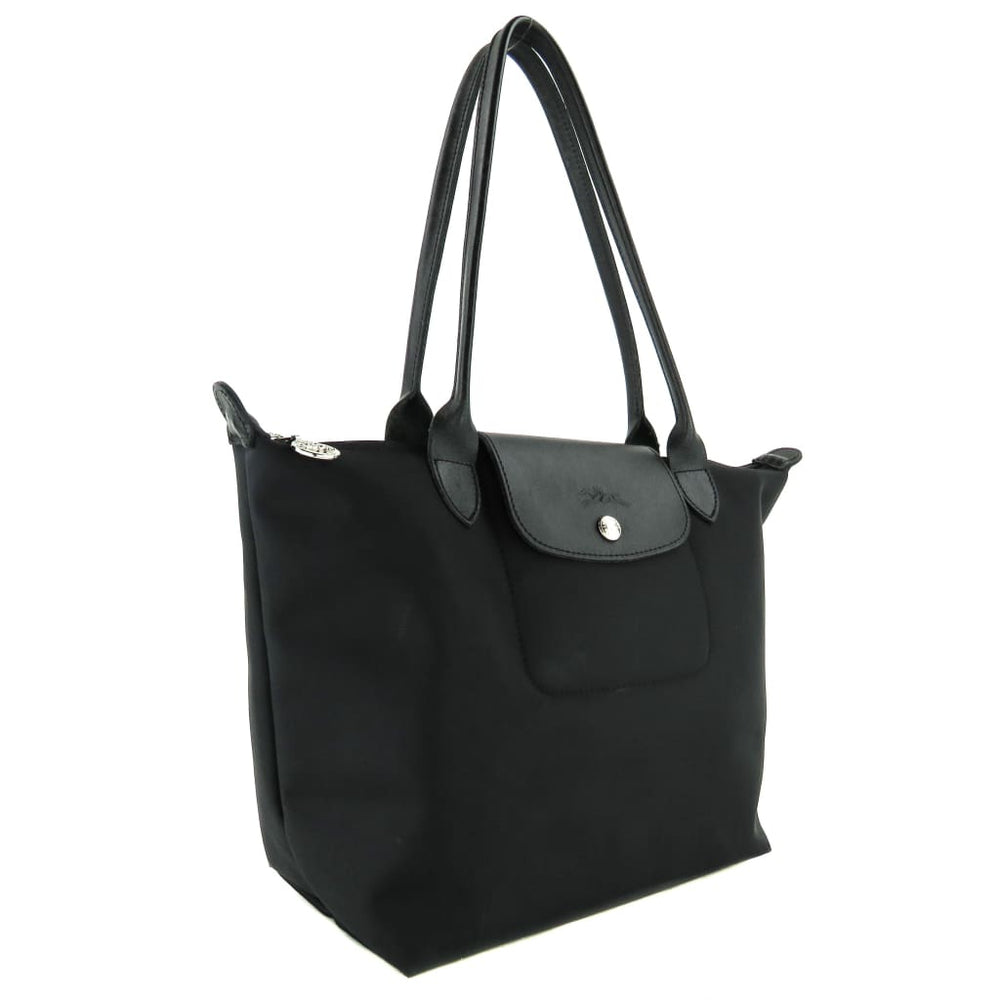 a48770253c Longchamp Black Nylon Planetes Long Handle Tote Bag – Mosh Posh Designer  Consignment Boutique