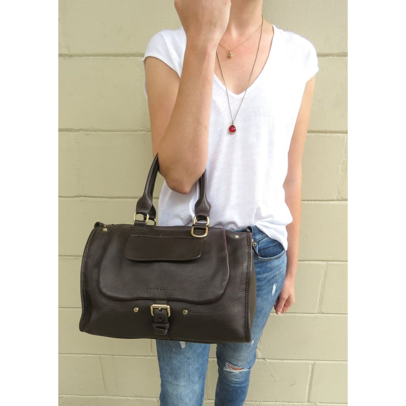 Longchamp Brown Leather Balzane Satchel Bag - Satchels