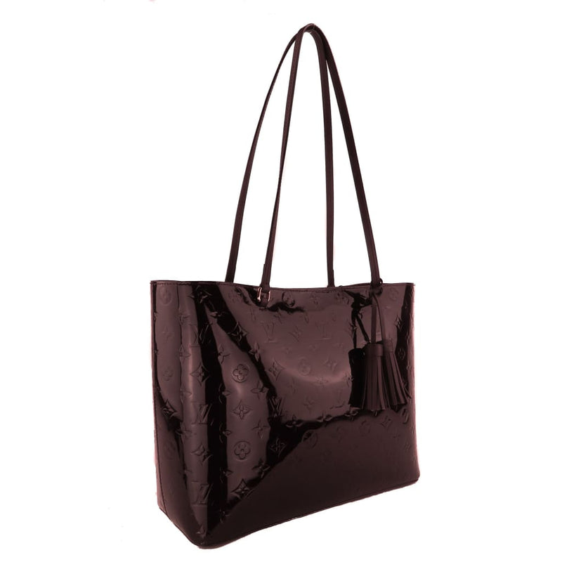 Louis Vuitton Amarante Vernis Leather Long Beach MM Tote Bag - Totes