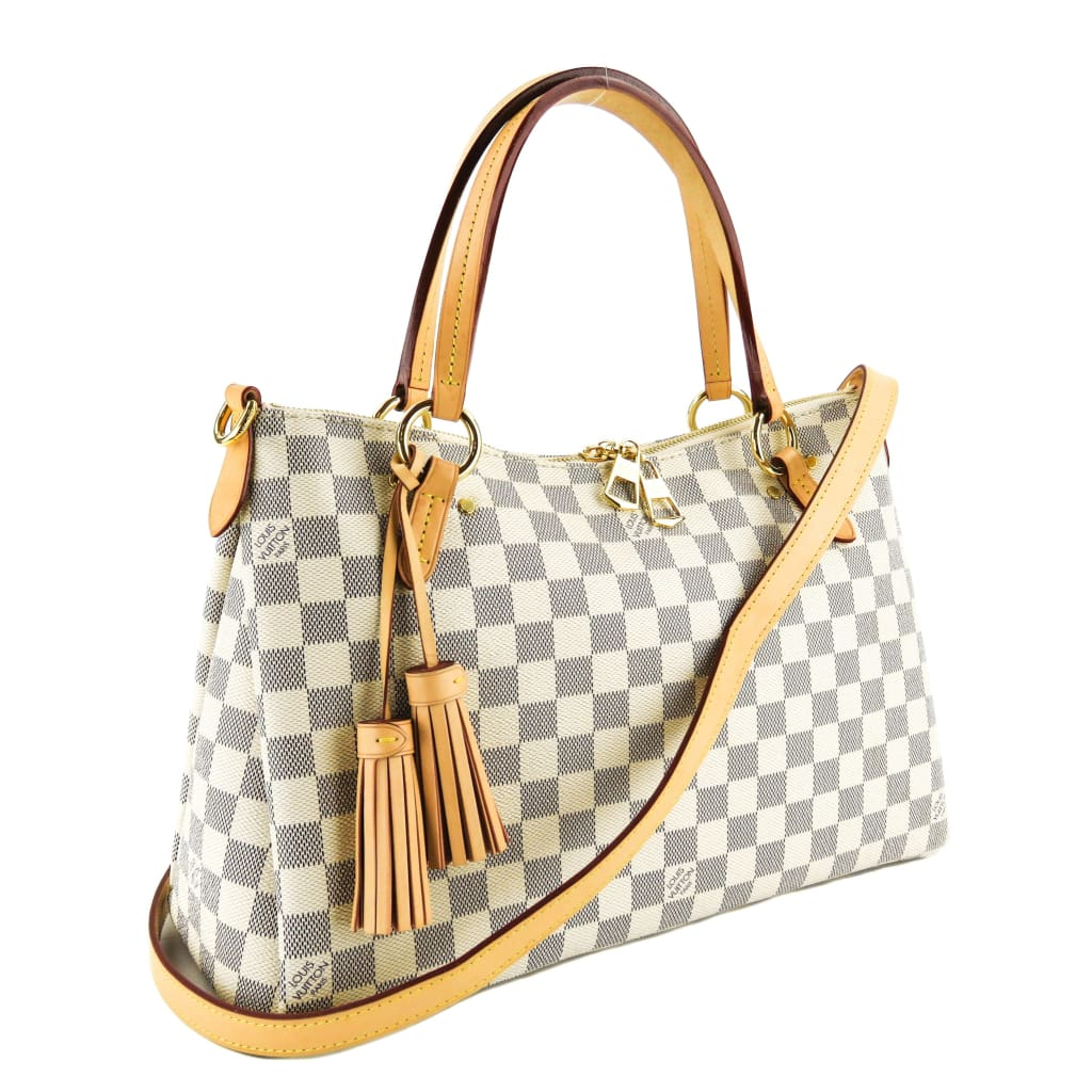 Louis Vuitton Azur Damier Canvas Lymington Satchel Bag - Satchels