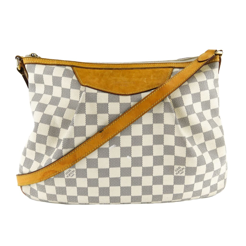 Louis Vuitton Azur Damier Canvas Siracusa MM Crossbody Bag - Crossbodies