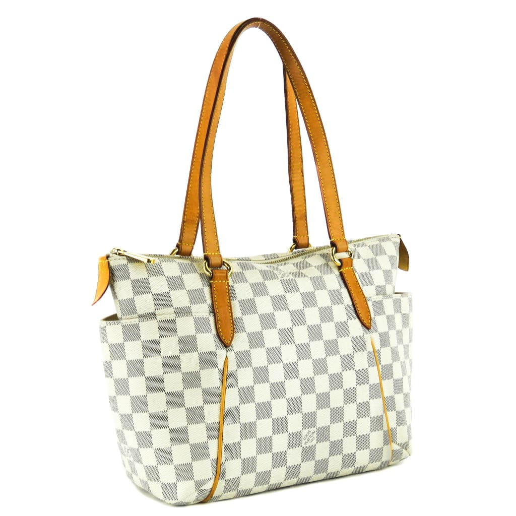 Louis Vuitton Azur Damier Canvas Totally PM Tote Bag - Totes