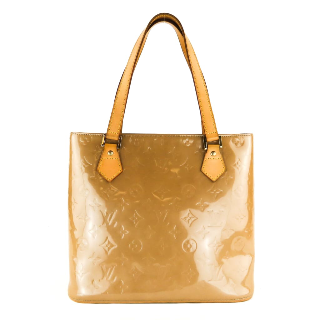 Louis Vuitton Beige Monogram Vernis Leather Houston Tote Bag - Totes