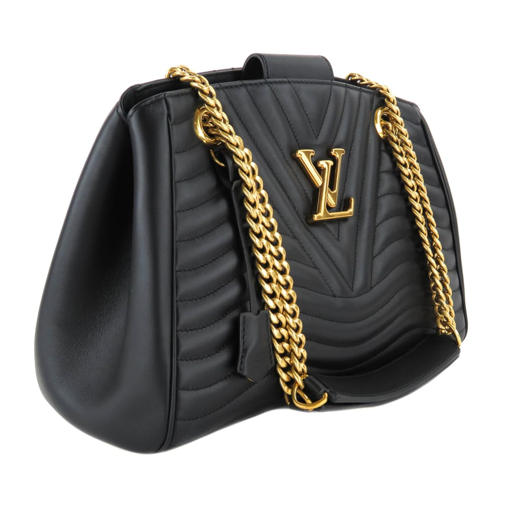Louis Vuitton Black Calf Leather New Wave Chain Tote Bag - Totes