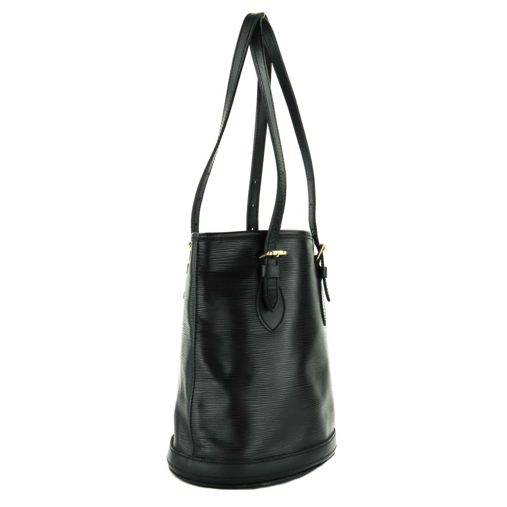 Louis Vuitton Black Epi Leather Petit Bucket Tote Bag - Bucket Bags