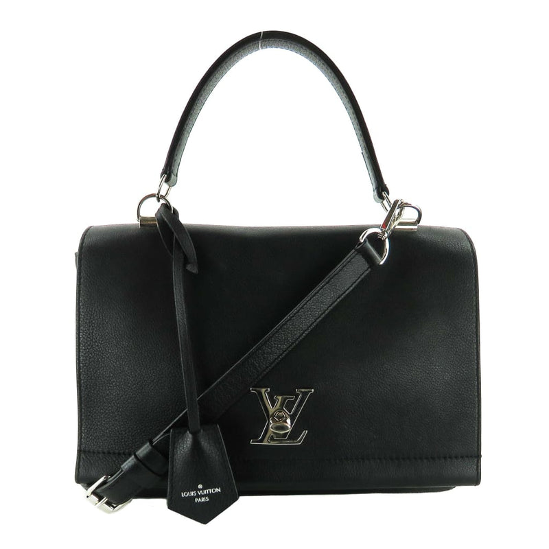 Louis Vuitton Black Leather Lock Me II Shoulder Bag - Shoulder Bags