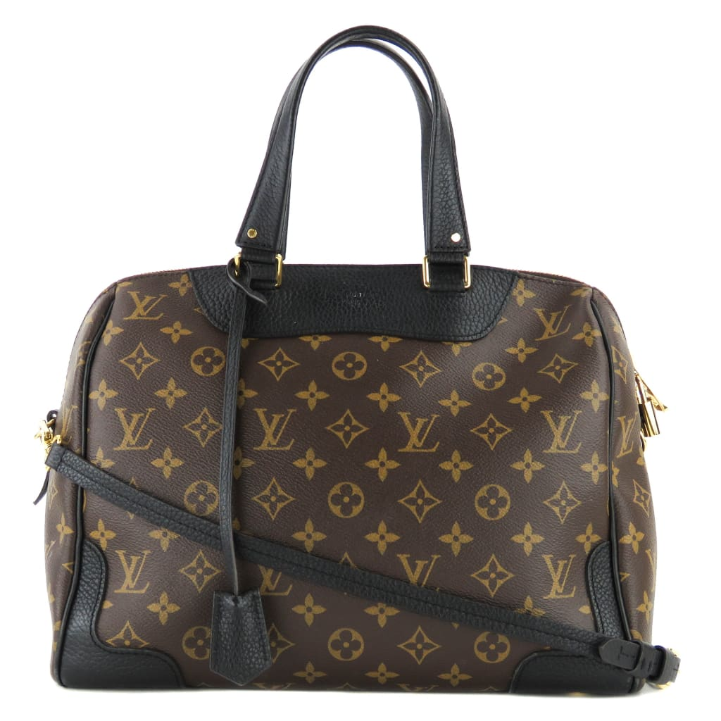 Louis Vuitton Black Monogram Canvas Retiro NM Satchel Bag - Satchels