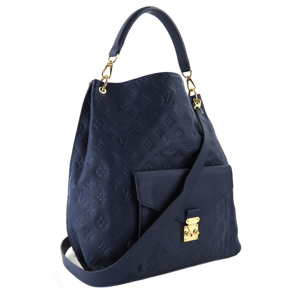 Louis Vuitton Blue Empreinte Leather Metis Satchel Bag - Shoulder Bags
