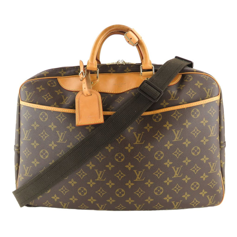 Louis Vuitton Brown Monogram Canvas Alize 24 Heures Suitcase Luggage Bag - Luggage
