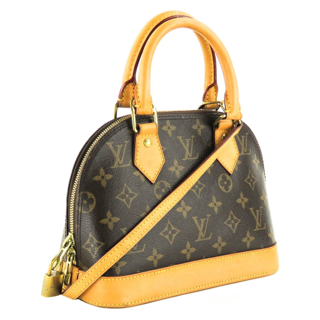 Louis Vuitton Brown Monogram Canvas Alma BB Satchel Crossbody Bag - Crossbodies
