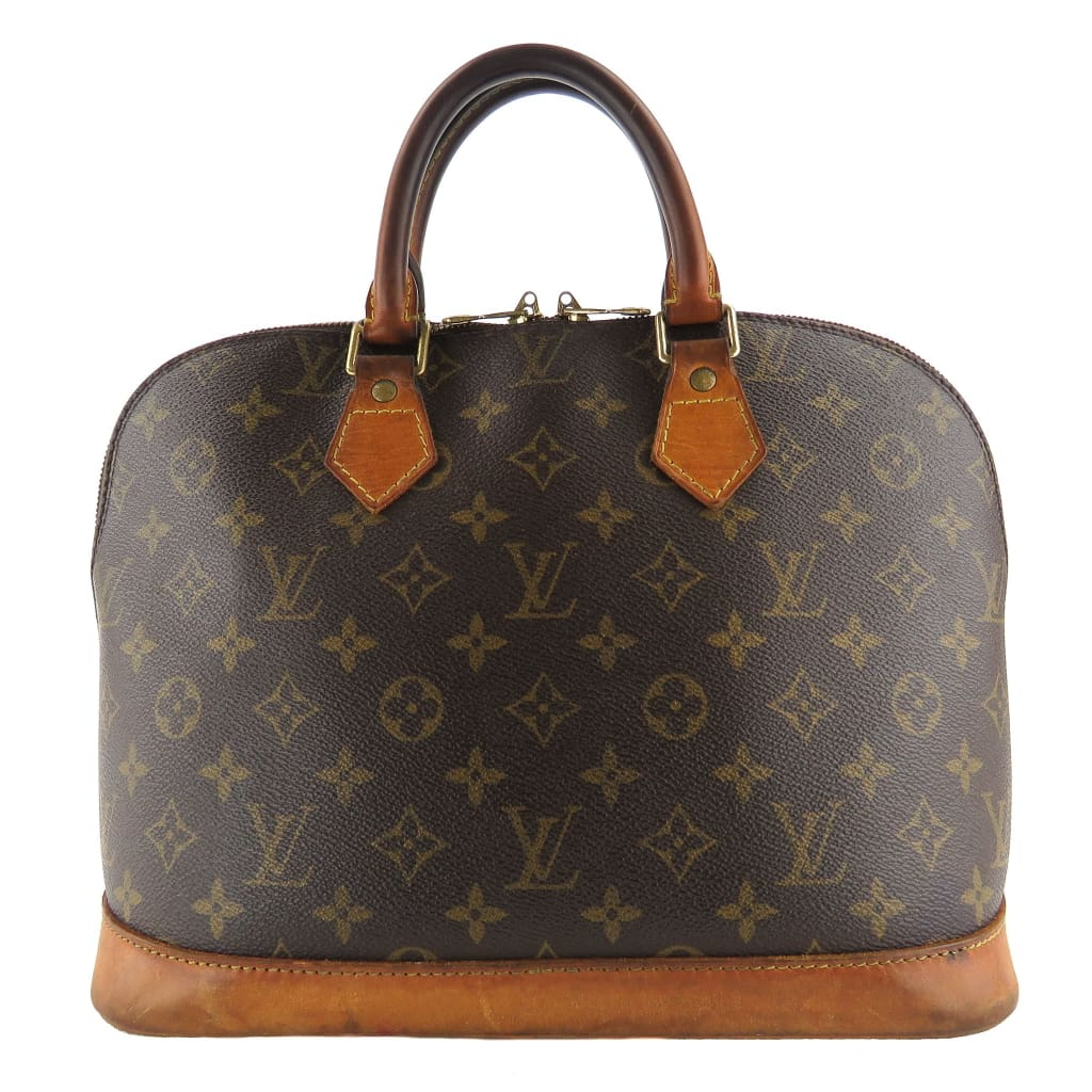Louis Vuitton Brown Monogram Canvas Alma PM Satchel Bag - Satchels