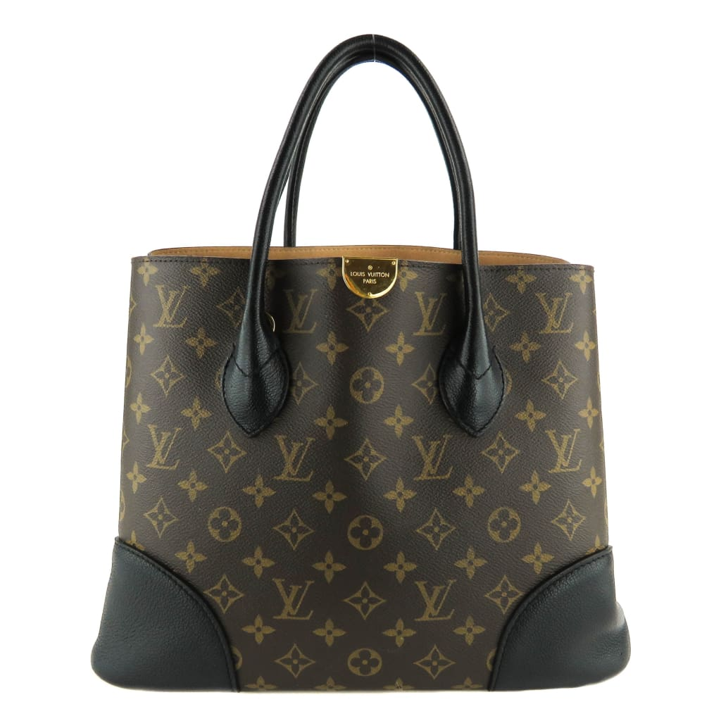 Louis Vuitton Brown Monogram Canvas Black Flandrin Tote Bag - Totes