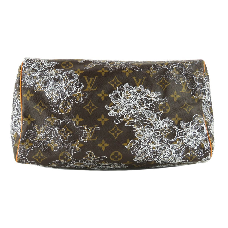 Louis Vuitton Brown Monogram Canvas Dentelle Lace Speedy 30 Satchel Bag - Satchels
