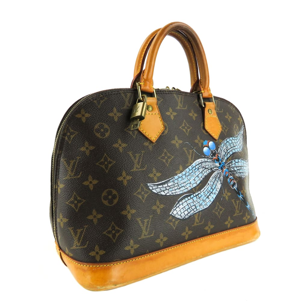 Louis Vuitton Brown Monogram Canvas Dragonfly Alma PM Satchel Bag - Satchels
