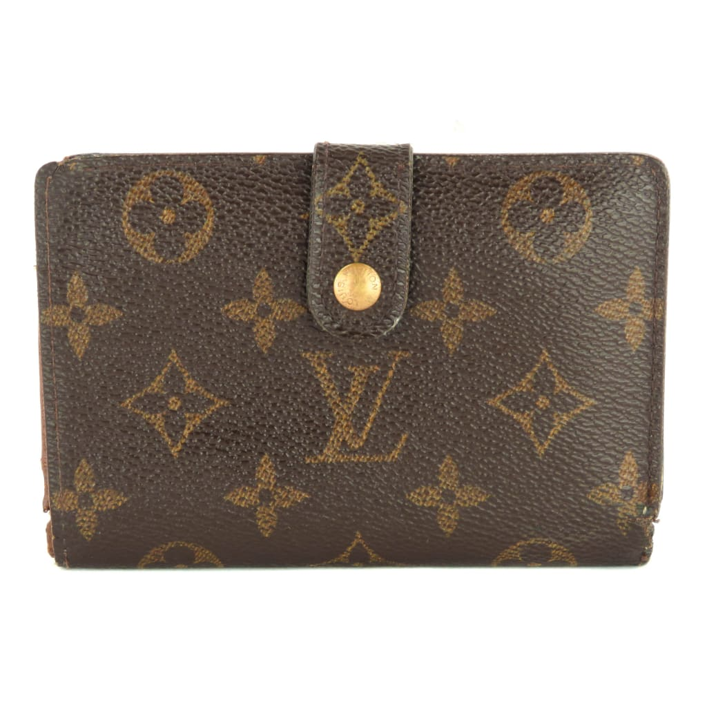 Louis Vuitton Brown Monogram Canvas French Kiss Lock Wallet - Wallet