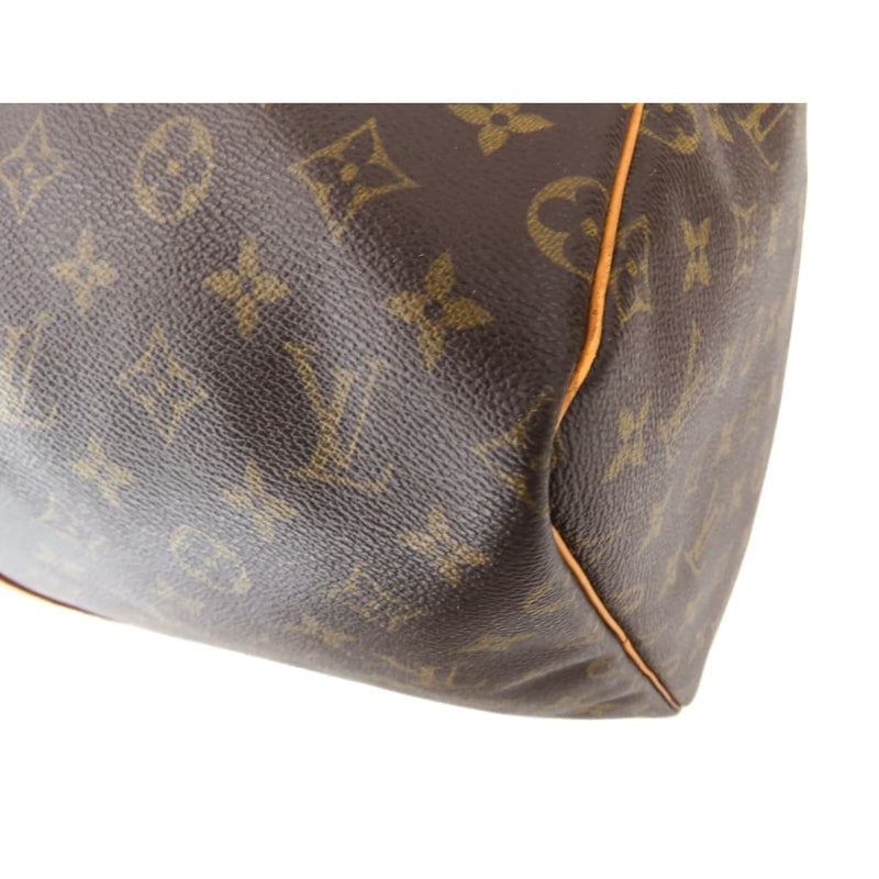Louis Vuitton Brown Monogram Canvas Keepall 55 Luggage Bag - Luggage