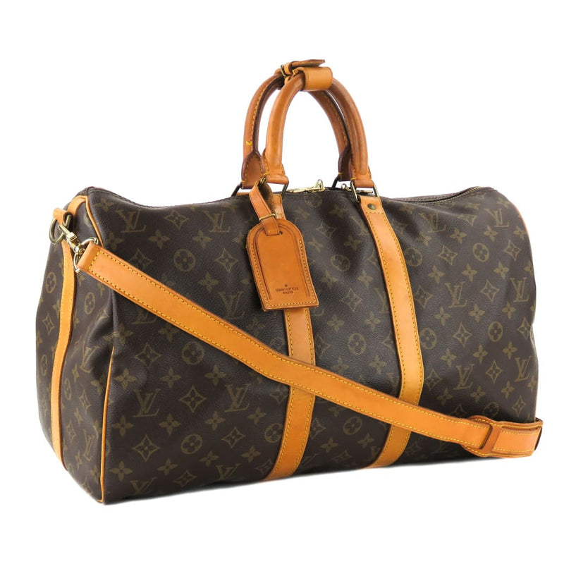 Louis Vuitton Brown Monogram Canvas Keepall Bandouliere 45 Luggage Bag - Luggage