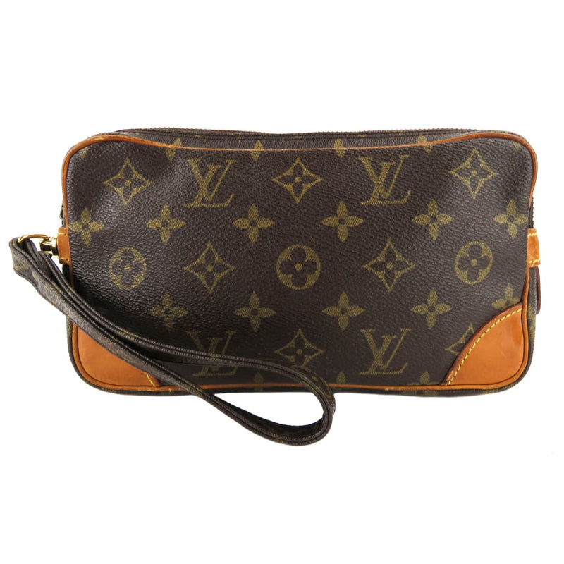 Louis Vuitton Brown Monogram Canvas Marly Dragone PM Pouch Wristlet - Wristlet