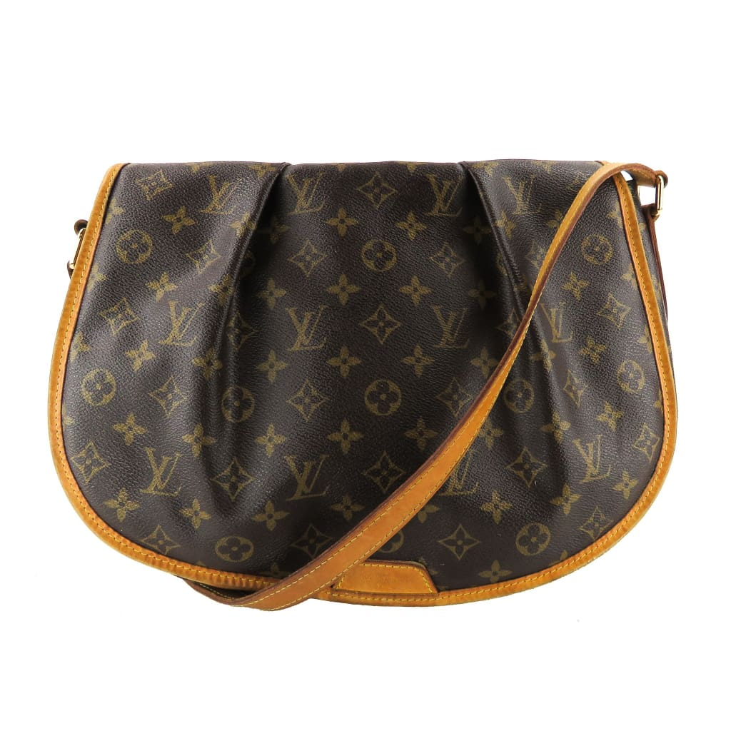 Louis Vuitton Brown Monogram Canvas Menilmontant MM Crossbody Bag - Crossbodies