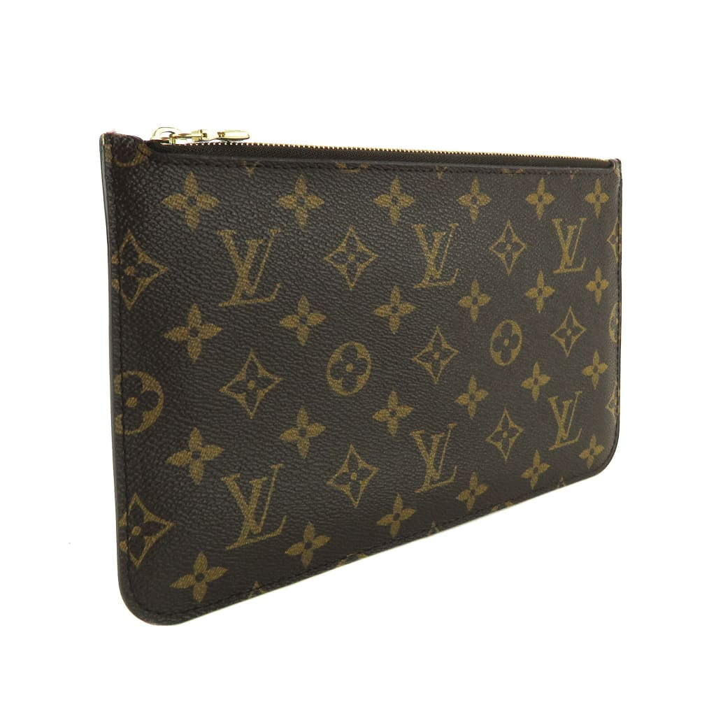 Louis Vuitton Brown Monogram Canvas Neverfull Pochette Wristlet - Wristlet