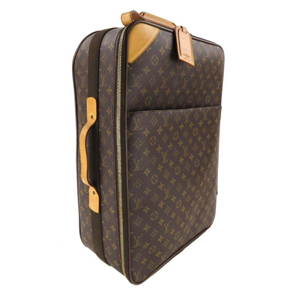 Louis Vuitton Brown Monogram Canvas Pegase 55 Rolling Luggage Bag - Luggage