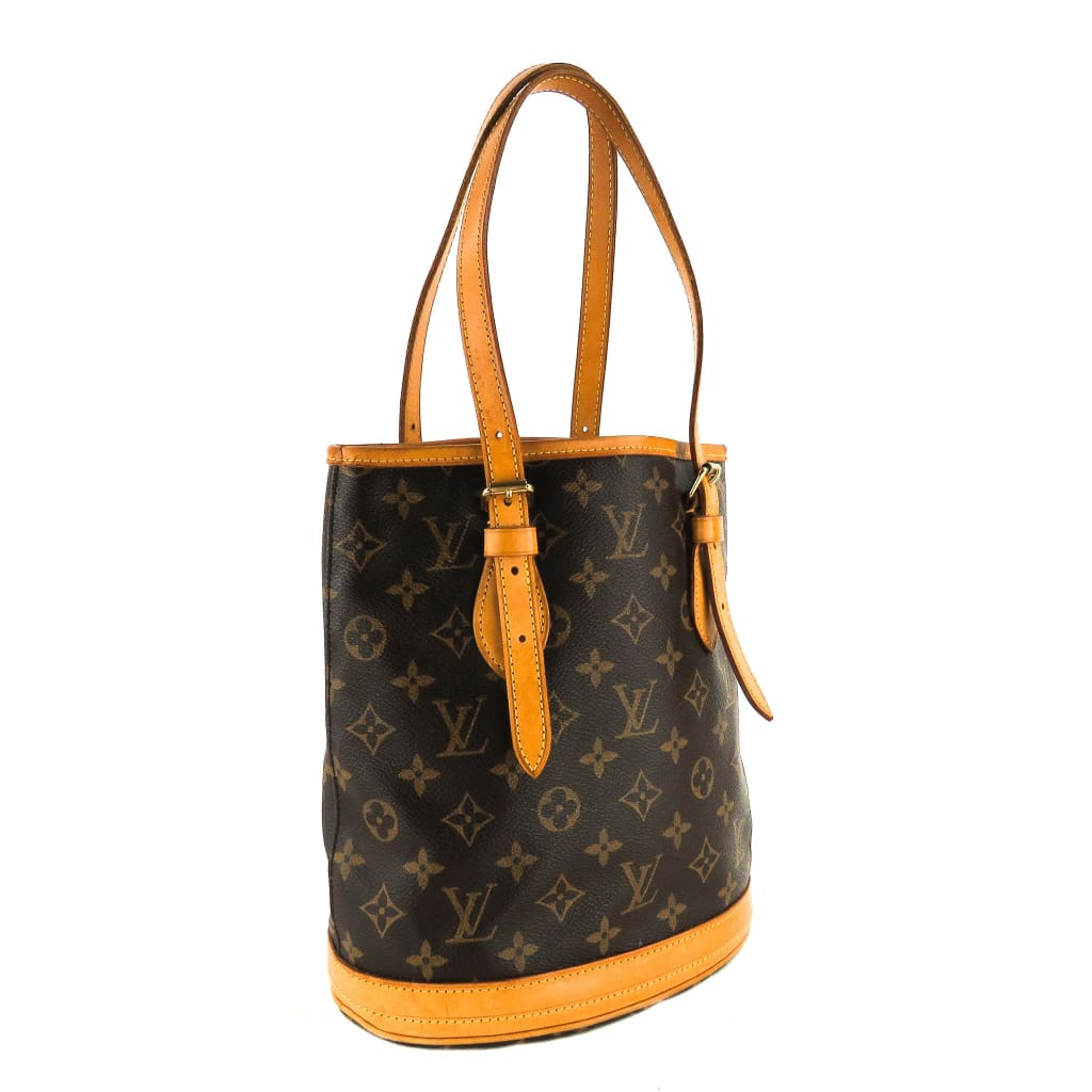 Louis Vuitton Brown Monogram Canvas Petit Bucket Bag - Bucket Bags